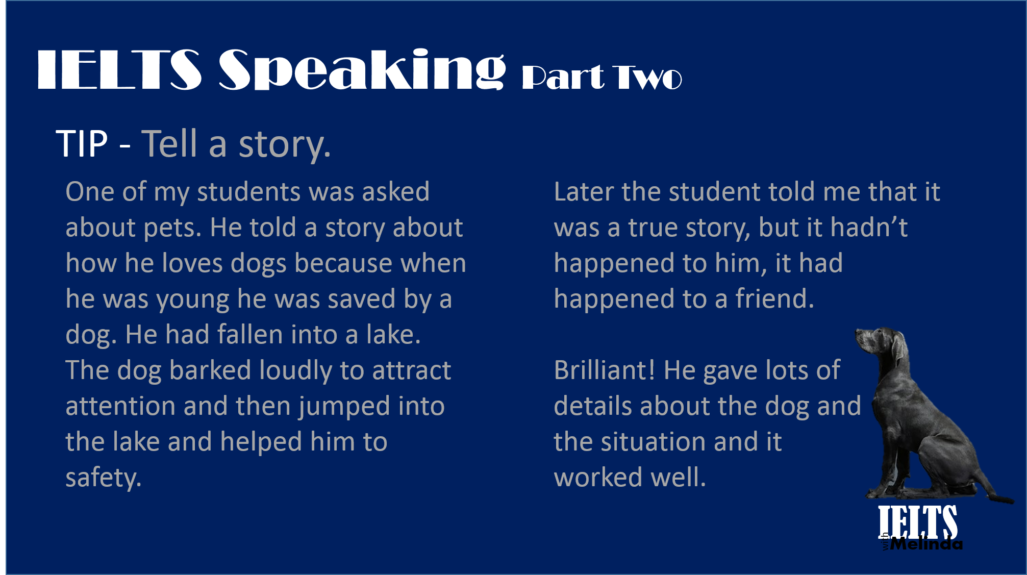 Speaking – Tips | ieltswithmelinda