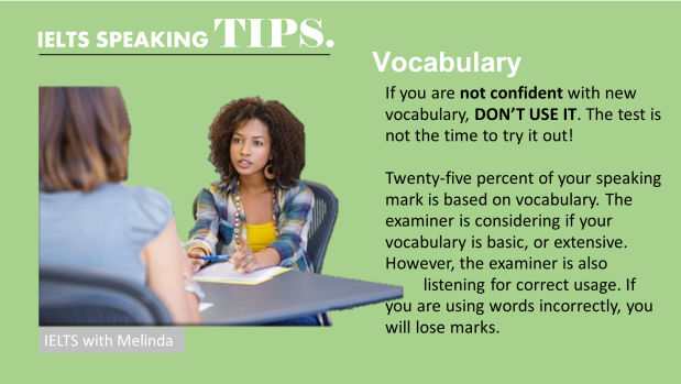 SPEAKING TIP 3