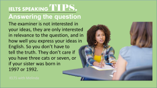 IELTS SPEAKING TIP 1