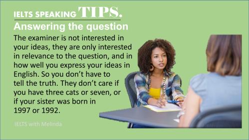SPEAKING TIPS 4