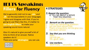 fillers for speaking fluency
