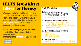 fillers for speaking fluency