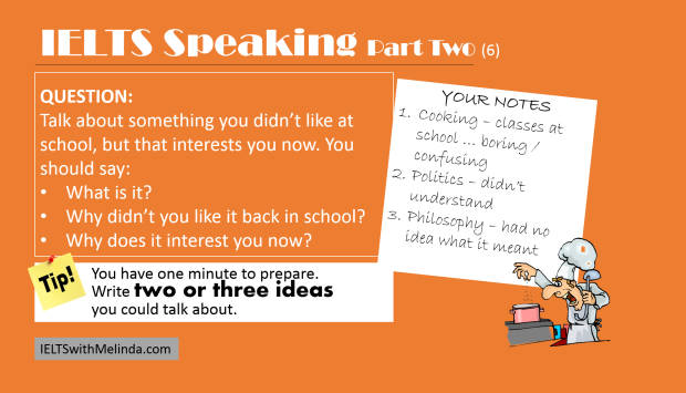 IELTS SPEAKING TIP