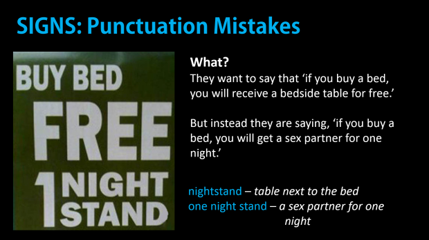Punctuation is important